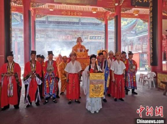 """陈靖姑文化节线上直播 两岸信众""""云端""""相聚祈福"""