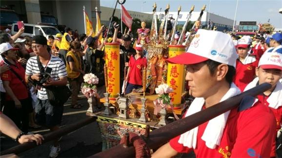 湄洲媽祖聖駕抵達寶島臺灣!