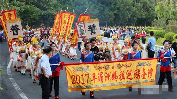 湄洲妈祖金身20年后再巡游台湾 接驾信众逾千