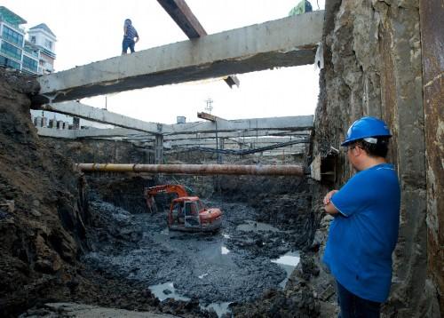 福州远洋路改造工程加紧建设